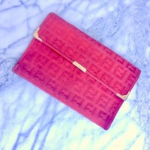 Fendi Zuchino Epi red wallet billfold